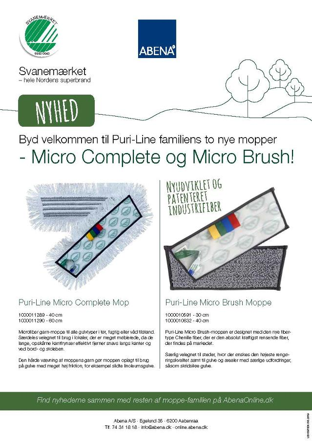 Brochure - Puri-Line mopper - Micro Complete og Micro Brush