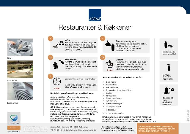 Løsblad - LifeClean - guide til restauranter og køkkener